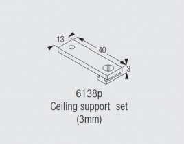 Silent Gliss 6138/P Bracket (3mm)